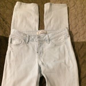 Hollister straight leg ripped jeans